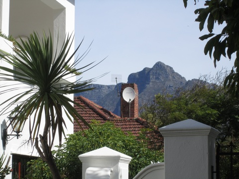 Mountain view from garden